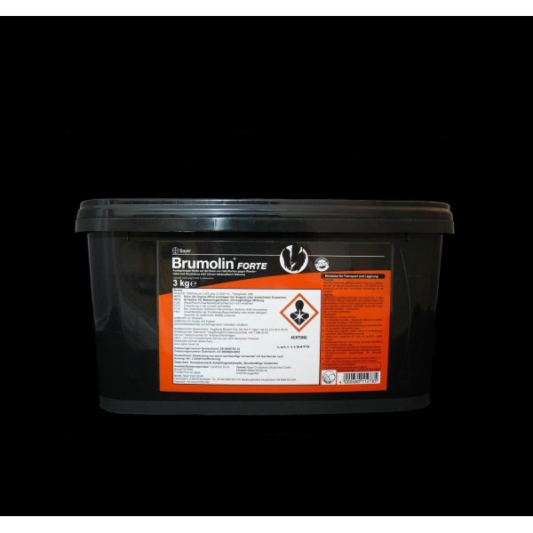 SET Bayer Brumolin Forte 3 kg + 3 Köderstationen BlocBox Alpha